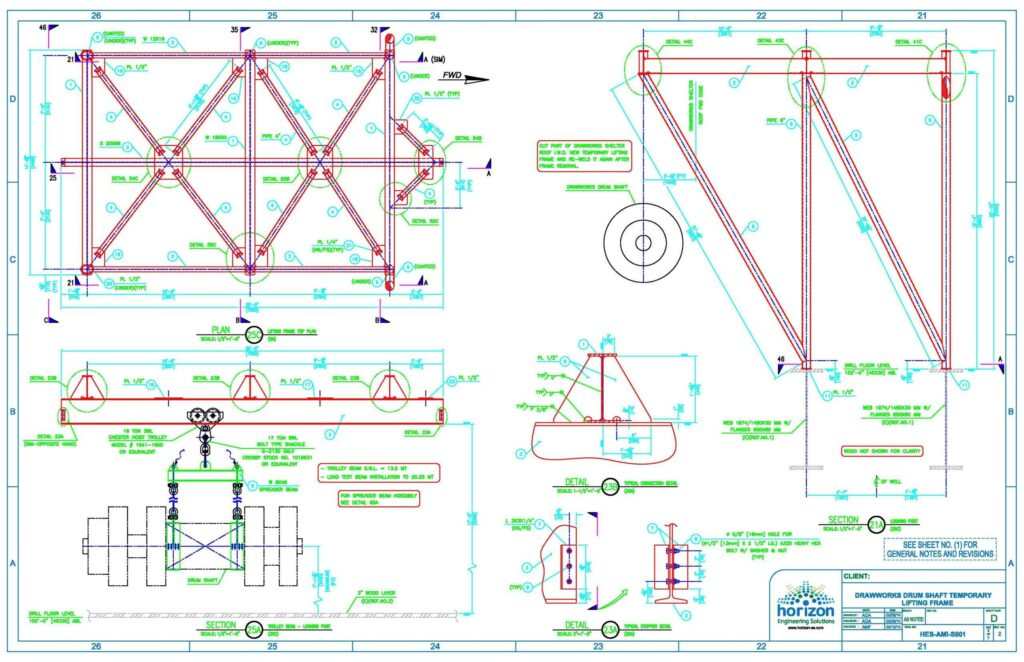 Drum frame-dwg2